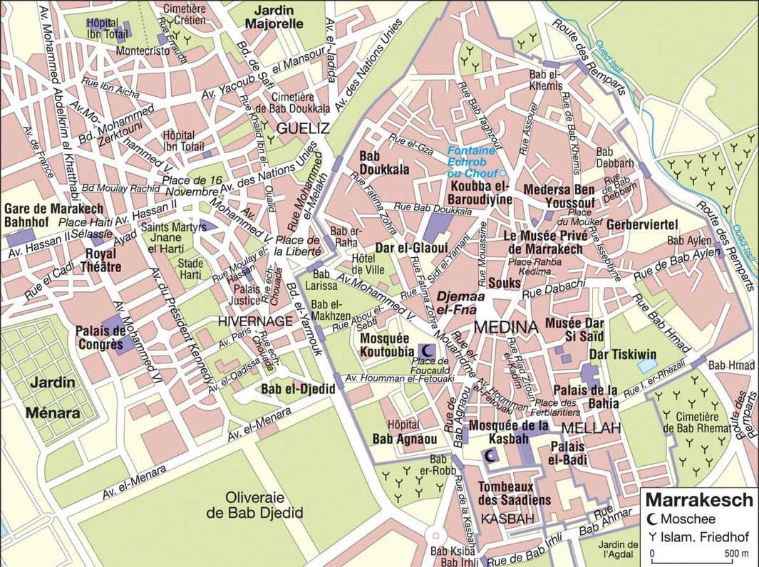 Mapa Turisticos De Marrakech Mapas Turisticos De Todas Las